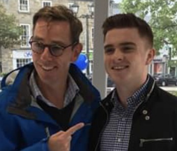 David with the Great Ryan Tubridy from RTE Radio 1
